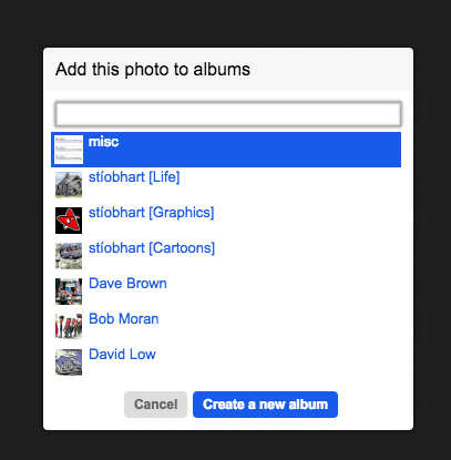 Select an existing album...