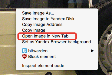 Choose to open in new tab from the popup