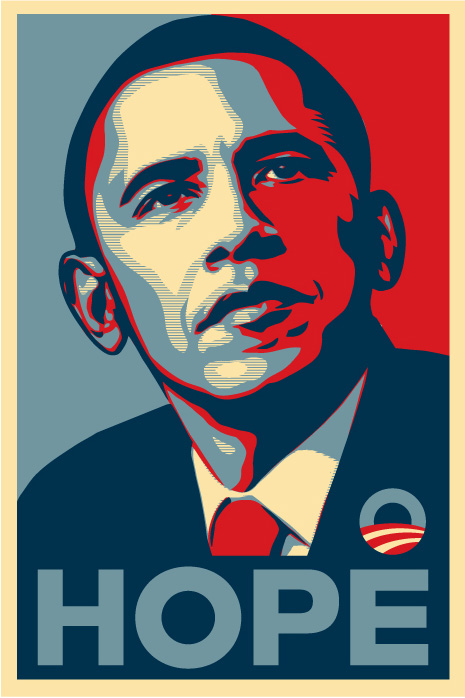 Obama 'Hope' poster by Shepard Fairey
