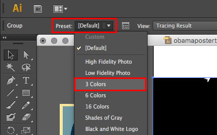 Change Image Trace preset to 3 Colours