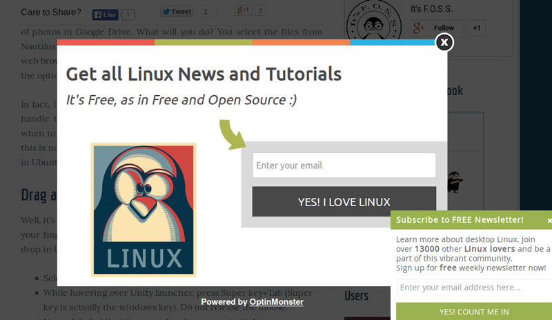 ByeBye It's FOSS! –Showcasing Linux's multi-tasking abilities by throwing two overlays in my face at once