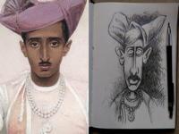 2nd August 2018 - The Maharaja of Indore by Bernard Boutet de Monvel 1933
