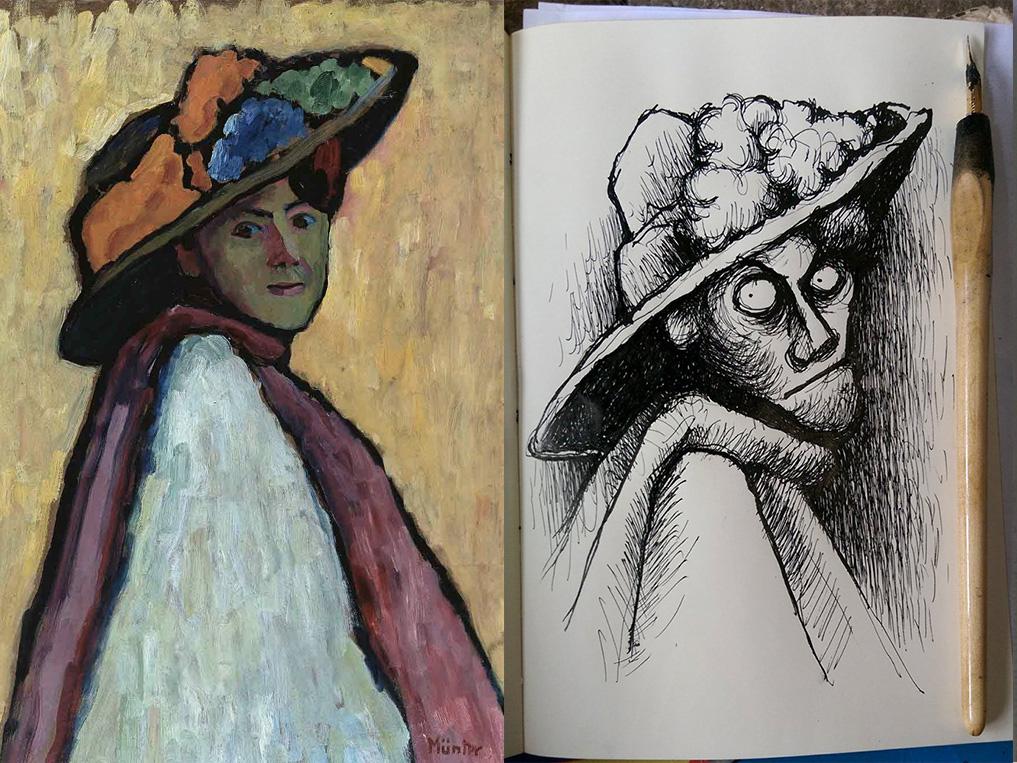30th August 2018 - Marianne von Werefkin by Gabriele Münter 1909