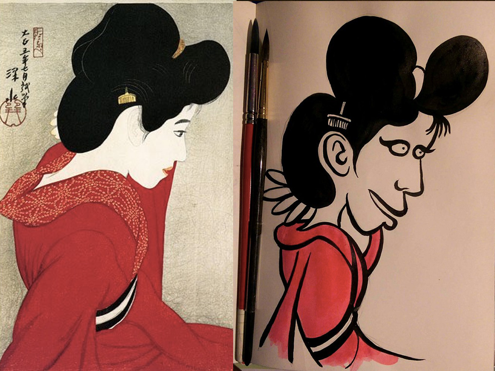20th September 2018 - Before the Mirror by Shinsui Itō 1916