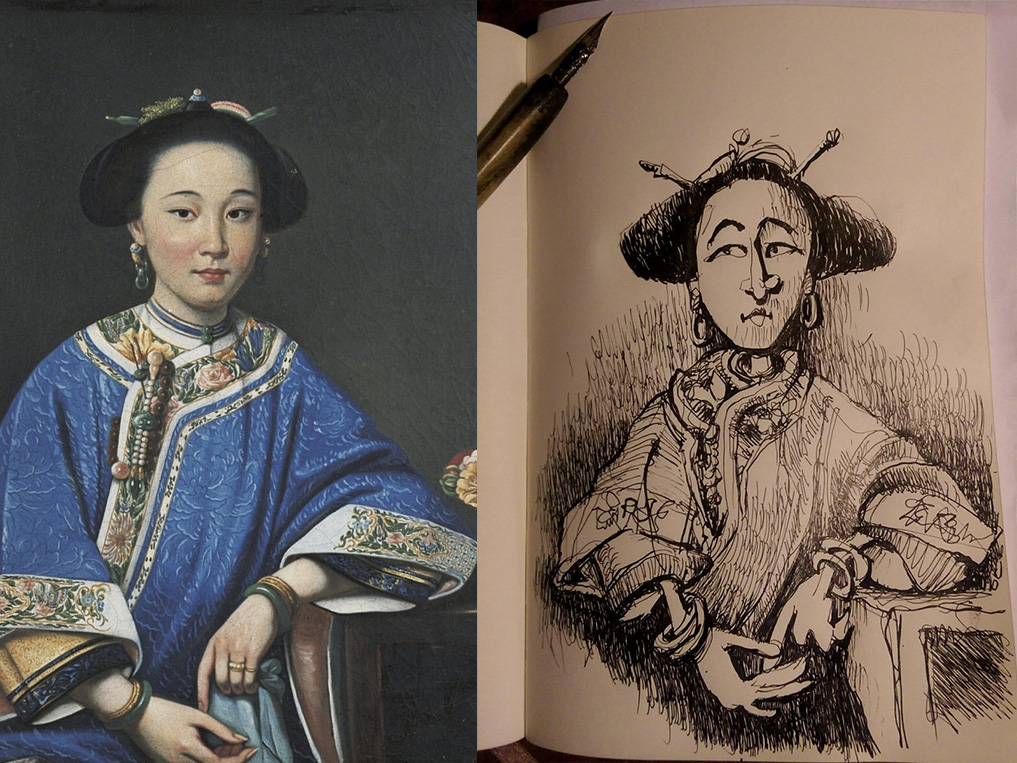 3rd October 2018 - Xiang Fei by Giuseppe Castiglione C1750s
