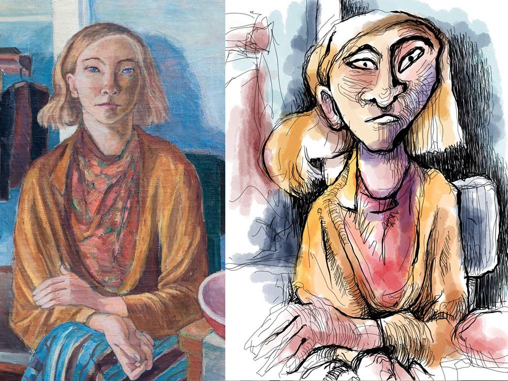 12th December 2018 - Tove Jansson self-portrait 1936