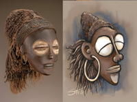 16th Jan 2019 - Mask by a Chokwe artist early C20th