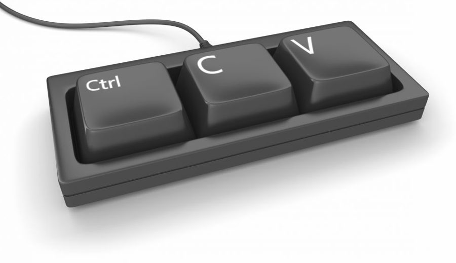 Standard issue US Megacorporation support department keyboard