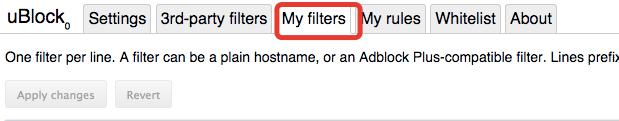 Paste under 'My Filters' in uBlock Origin